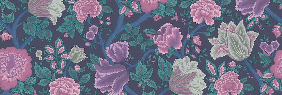 Cole & Son - The P/wood Coll Midsummer Bloom Purple, Teal, Ink 116/4015