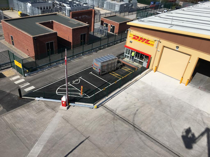 EV Charge Point at DHL Chester