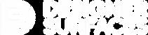 Designer Surfaces Logo - White on Clear