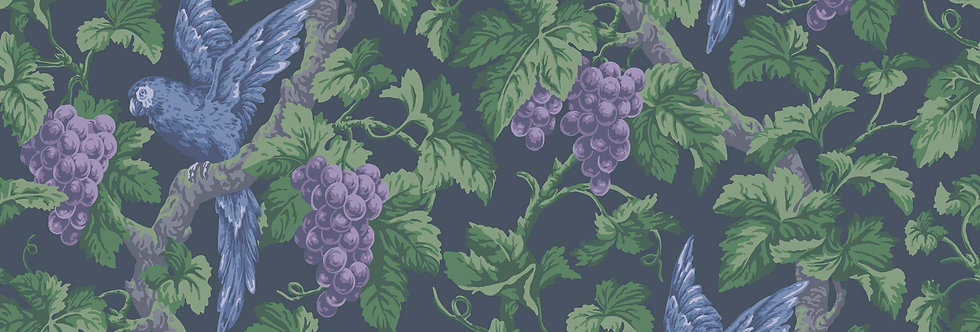 Cole & Son - The P/wood Coll Woodvale Orchard Purple, Forest, Ink 116/5019