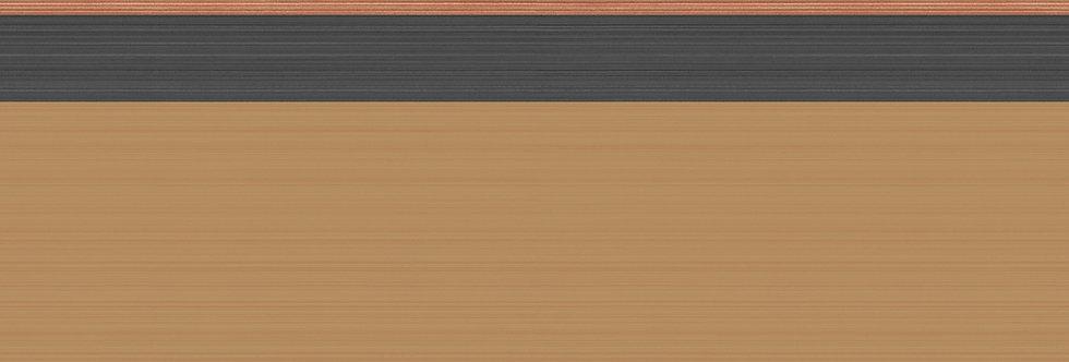 Cole & Son - Marquee Stripes Jaspe Border Ginger, Black & Bronze 110/10046