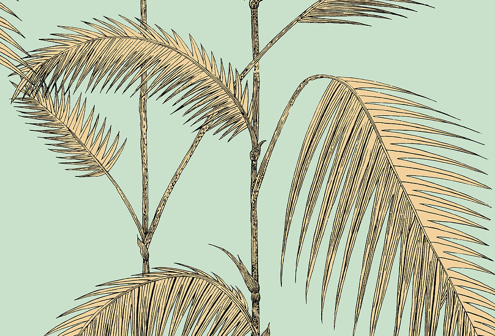 Cole & Son - Icons Palm Leaves Alabaster Mint & Sand 112/2006