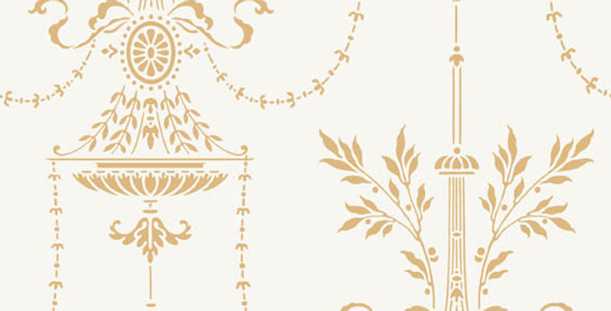 Cole & Son - Archive Traditional Dorset Off White & Gold 88/7032