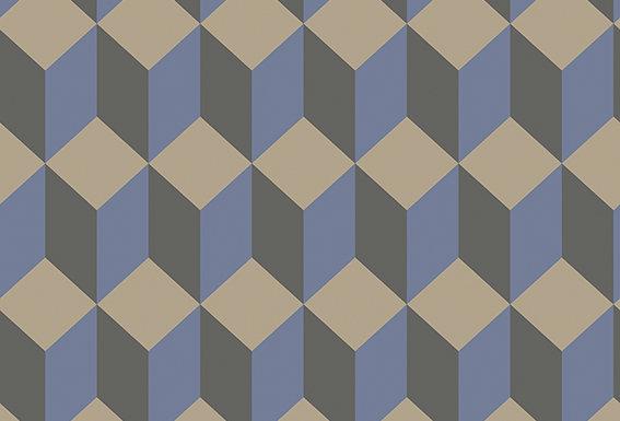 Cole & Son - Geometric II Delano Blue & Black 105/7034