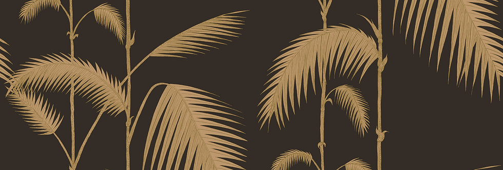Cole & Son - The Contemp Coll Palm Leaves Gold on Charcoal 66/2014