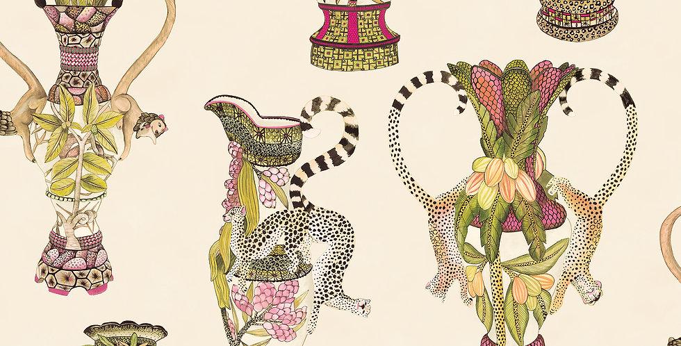 Cole & Son - Ardmore Khulu Vases Cream + Multi 109/12057