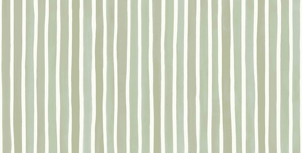 Cole & Son - Marquee Stripes Croquet Stripe Olive 110/5030