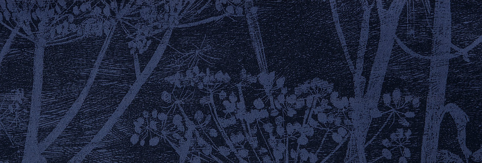 Cole & Son - The Contemp Coll Fabrics Cow Parsley Hyacinth & Ink F111/5016