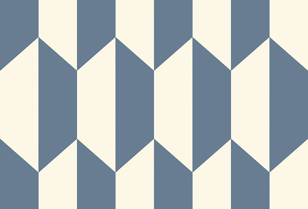 Cole & Son - Geometric II Tile Blue & White 105/12054