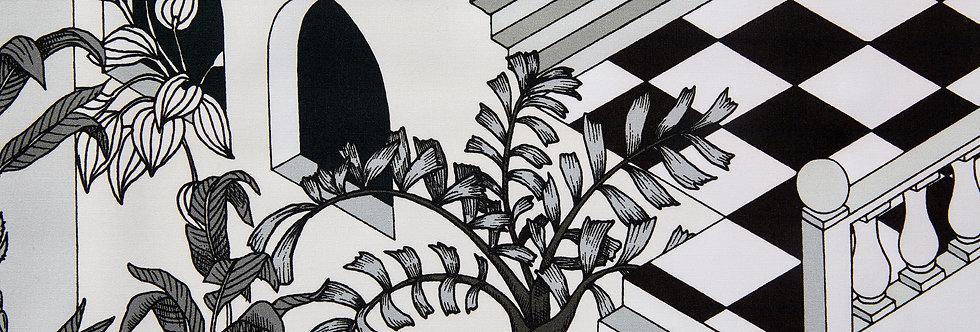 Cole & Son - The Contemp Coll Fabrics Miami Black & White F111/4014