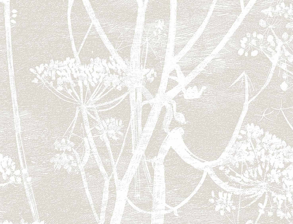 Cole & Son - Contemporary Restyled Cow Parsley Linen on White 95/9051