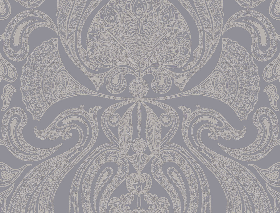 Cole & Son - Contemporary Restyled Malabar Silver on Grey 95/7042