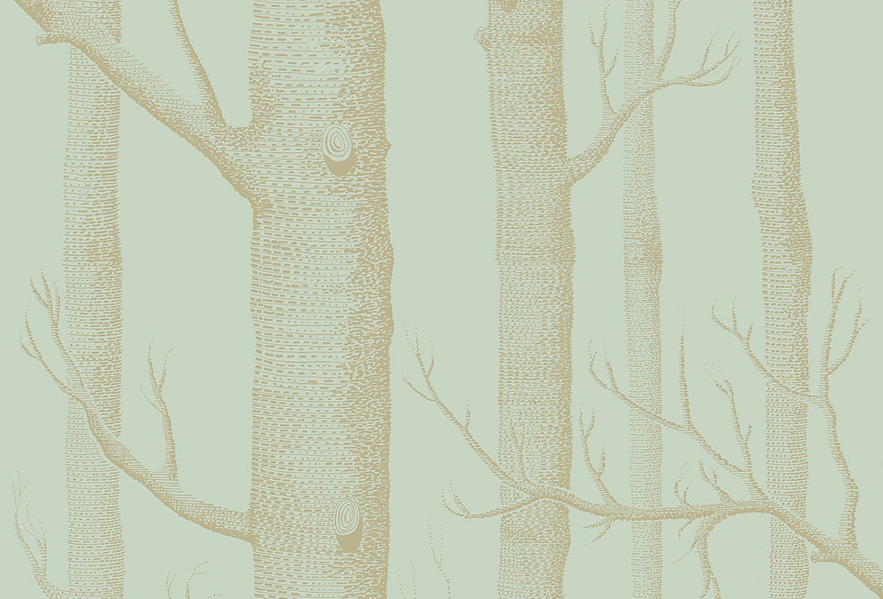 Cole & Son - Whimsical Woods Green & Gold 103/5023