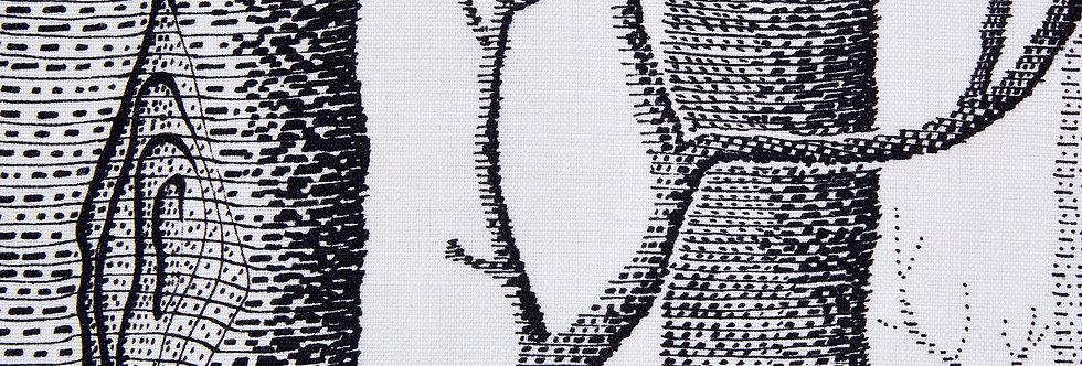 Cole & Son - The Contemp Coll Fabrics Woods Black on White F111/7026LU