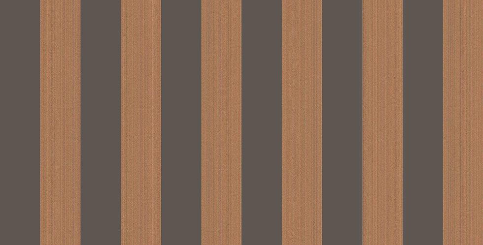 Cole & Son - Marquee Stripes Regatta Stripe Tan & Black 110/3017