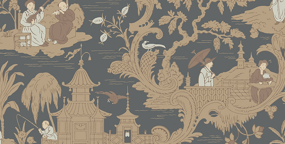 Cole & Son - Archive Anthology Chinese Toile Charcoal 100/8040