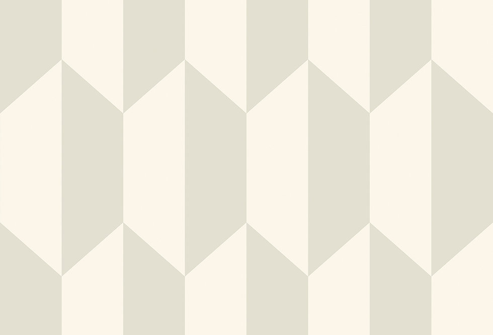Cole & Son - Geometric II Tile White & Stone 105/12052