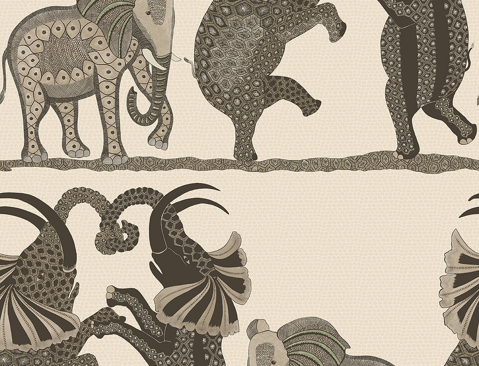 Cole & Son - Ardmore Safari Dance Neutral + Charcoal 109/8036