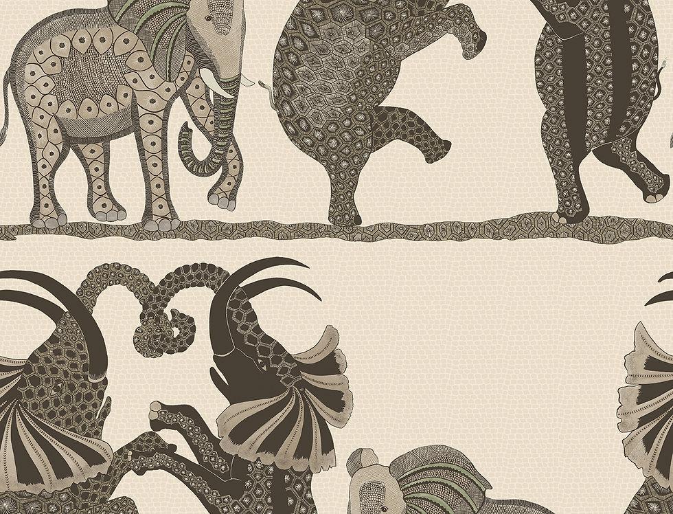 Cole & Son - Ardmore Safari Dance Neutral + Charcoal 109/8036