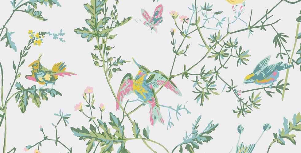 Cole & Son - Icons Hummingbirds Green & Pink 112/4015