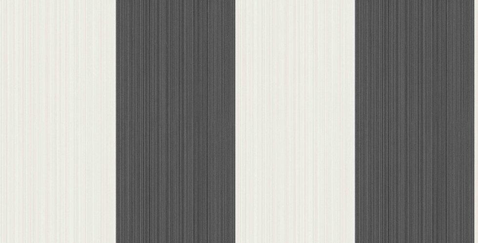 Cole & Son - Marquee Stripes Jaspe Stripe Black & White 110/4025