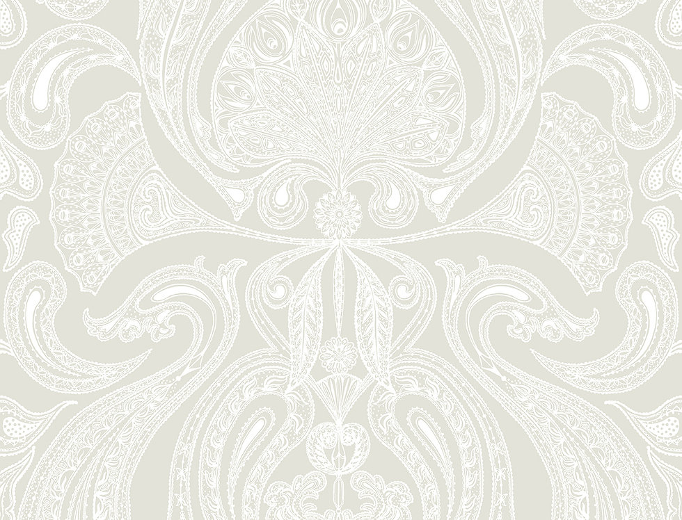 Cole & Son - Contemporary Restyled Malabar White on Linen 95/7039