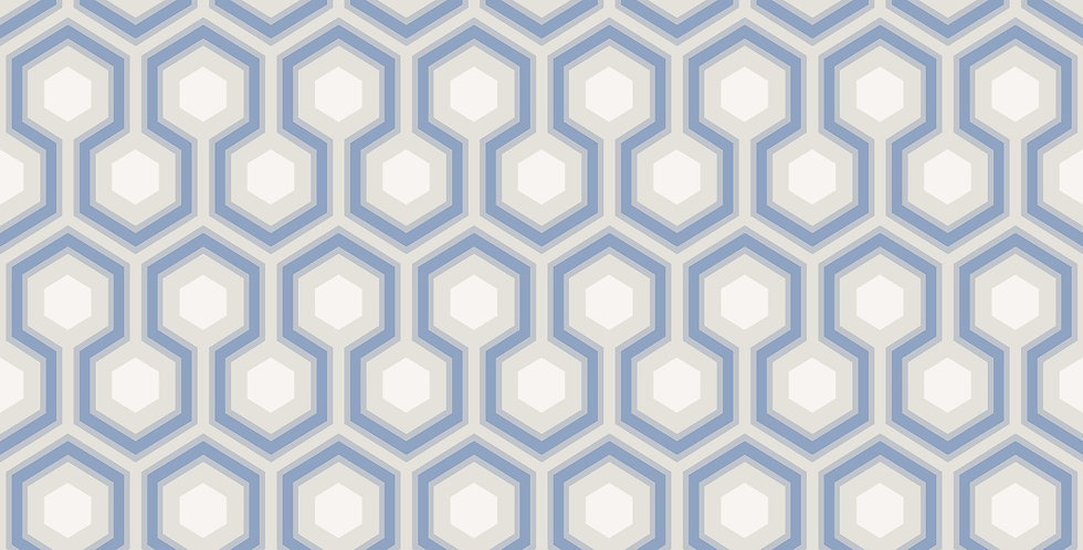 Cole & Son - The Contemp Coll Hicks' Hexagon Hyacinth, White, Parchment 66/8054
