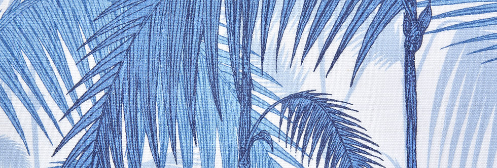 Cole & Son - The Contemp Coll Fabrics Palm Jungle Hyacinth on White F111/2006LU