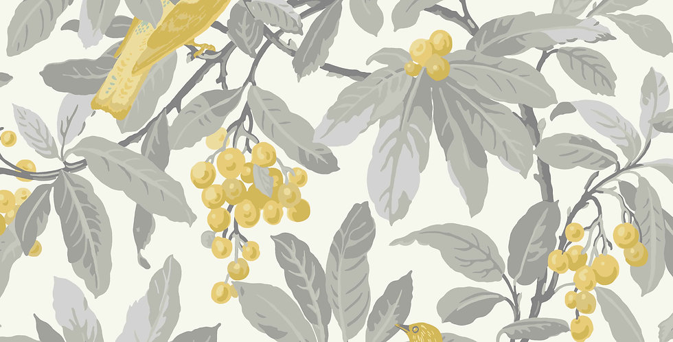 Cole & Son - HRP Royal Garden Grey & Yellow 98/1003
