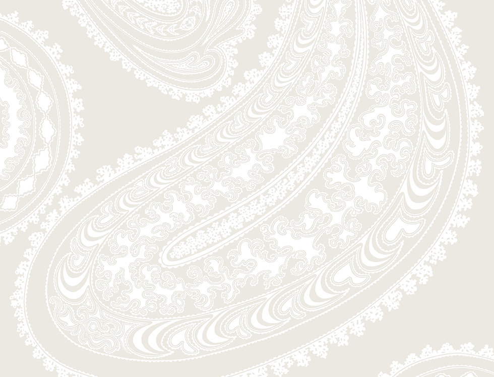 Cole & Son - Contemporary Restyled Rajapur White on Shell 95/2010