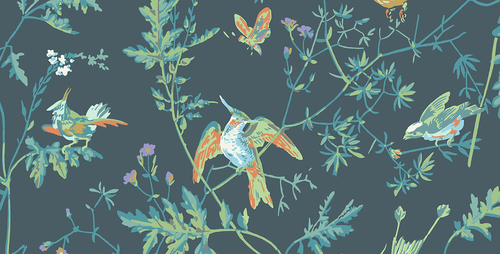 Cole & Son - Icons Hummingbirds Viridian 112/4014