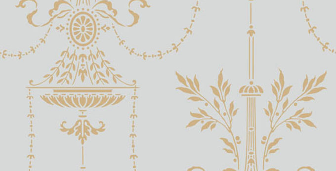 Cole & Son - Archive Traditional Dorset Duck Egg & Gold 88/7031