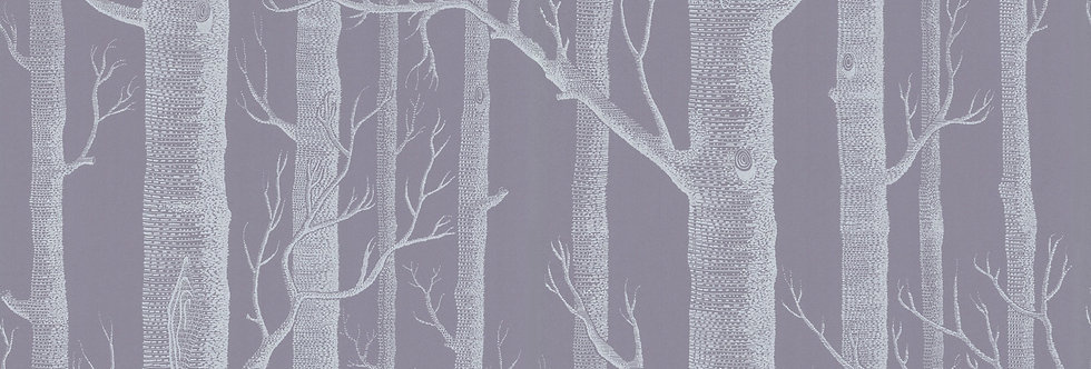 Cole & Son - The Contemp Coll Woods White on Lilac Grey 69/12151