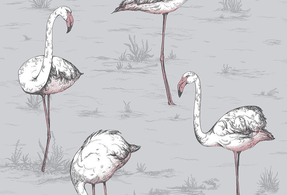 Cole & Son - Icons Flamingos Lilac Grey 112/11040