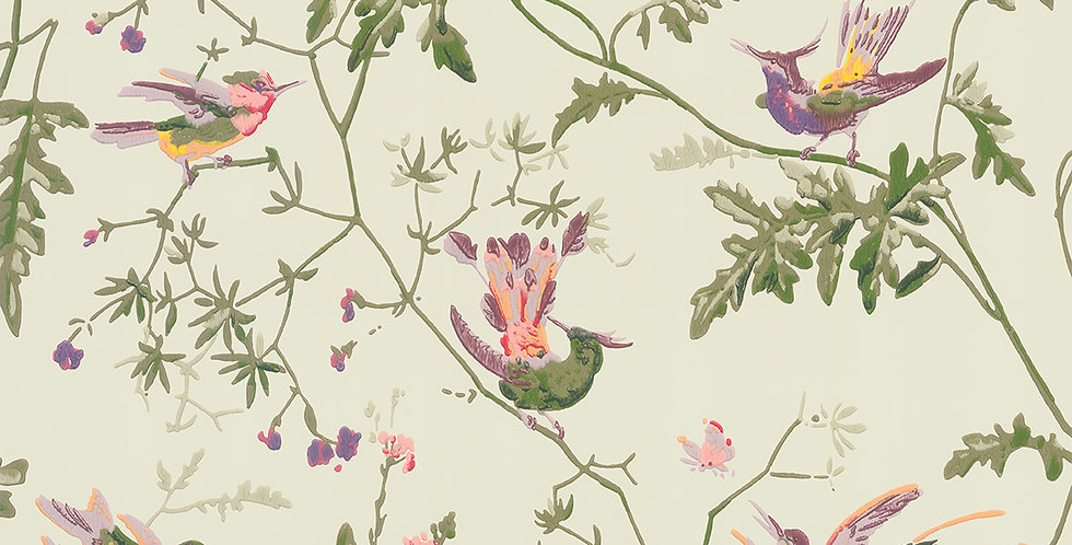 Cole & Son - Archive Anthology Hummingbirds Green Multi-Colour 100/14070