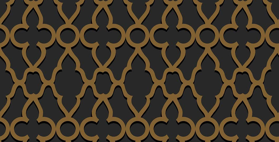 Cole & Son - The P/wood Coll Treillage Metallic Bronze on Charcoal 116/6025