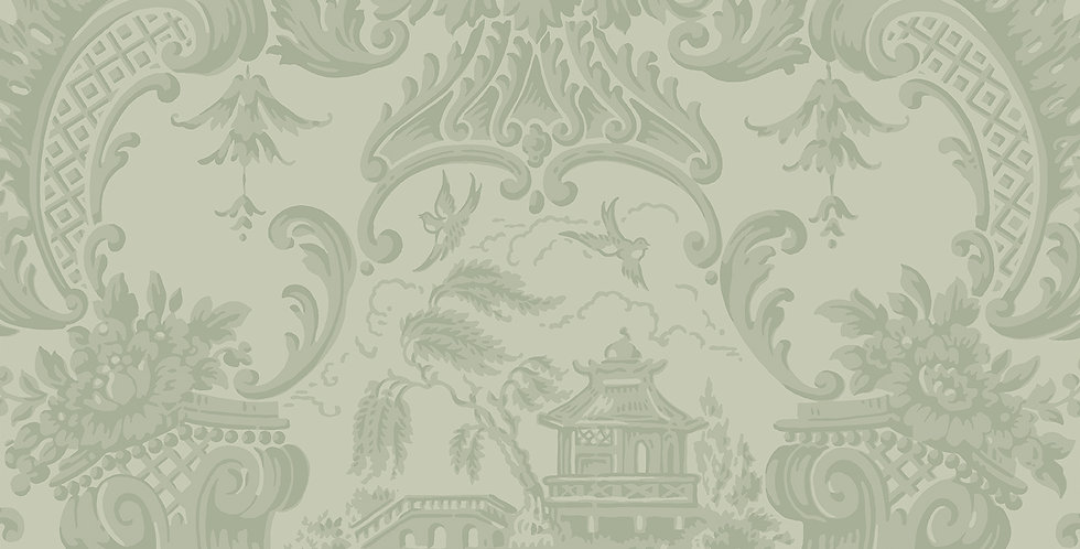 Cole & Son - Archive Anthology Chippendale China Olive 100/3013