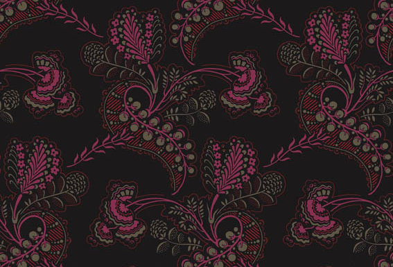 Cole & Son - Archive Traditional Hartford Black & Shocking Pink 88/4016