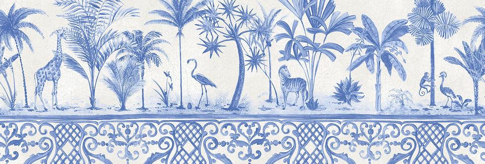 Cole & Son - Folie Rousseau Border Cobalt Blue 99/10042