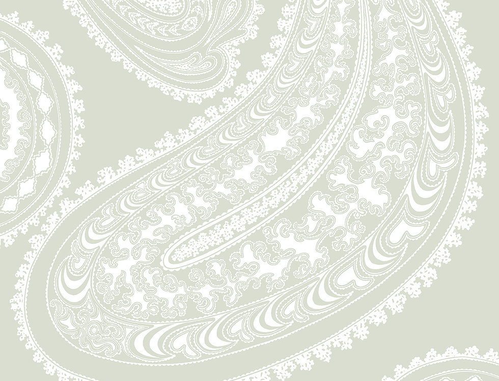 Cole & Son - Contemporary Restyled Rajapur White on Olive 95/2063