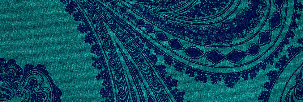 Cole & Son - The Contemp Coll Fabrics Rajapur Ink on Petrol F111/10036