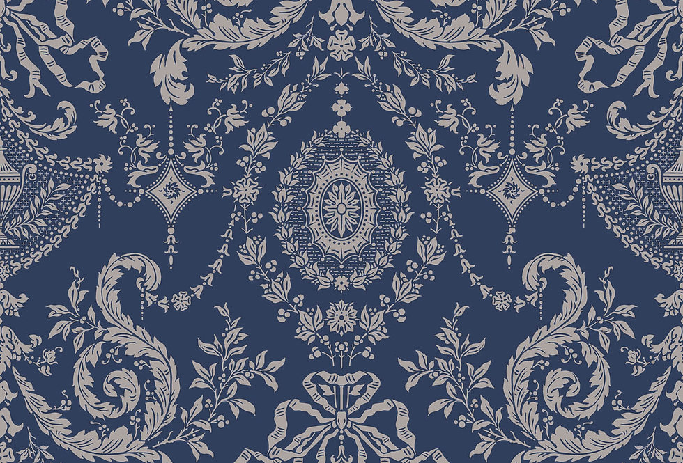 Cole & Son - Archive Traditional Woolverston Dark Blue & Gold 88/10043