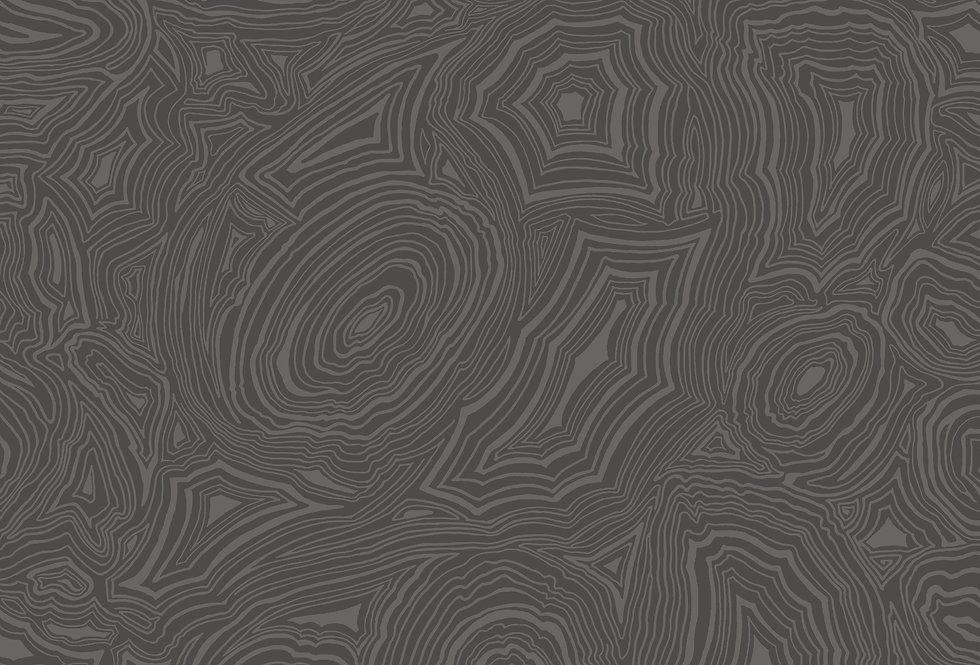 Cole & Son - Fornasetti Malachite Charcoal & Silver 114/6012