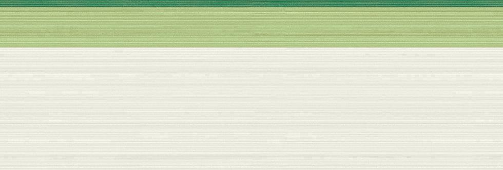 Cole & Son - Marquee Stripes Jaspe Border White, Green & Emerald 110/10047