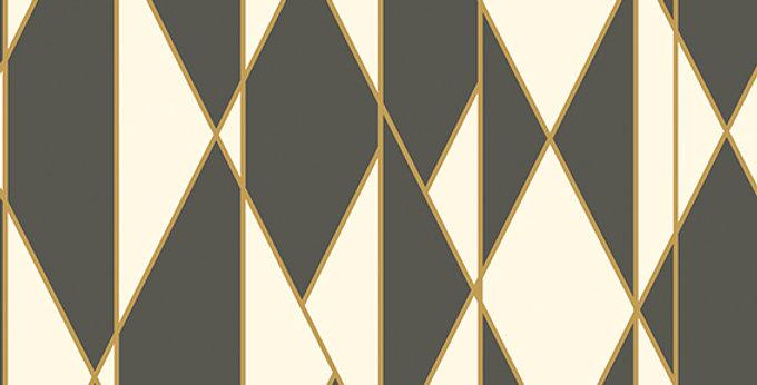Cole & Son - Geometric II Oblique Black & White 105/11049
