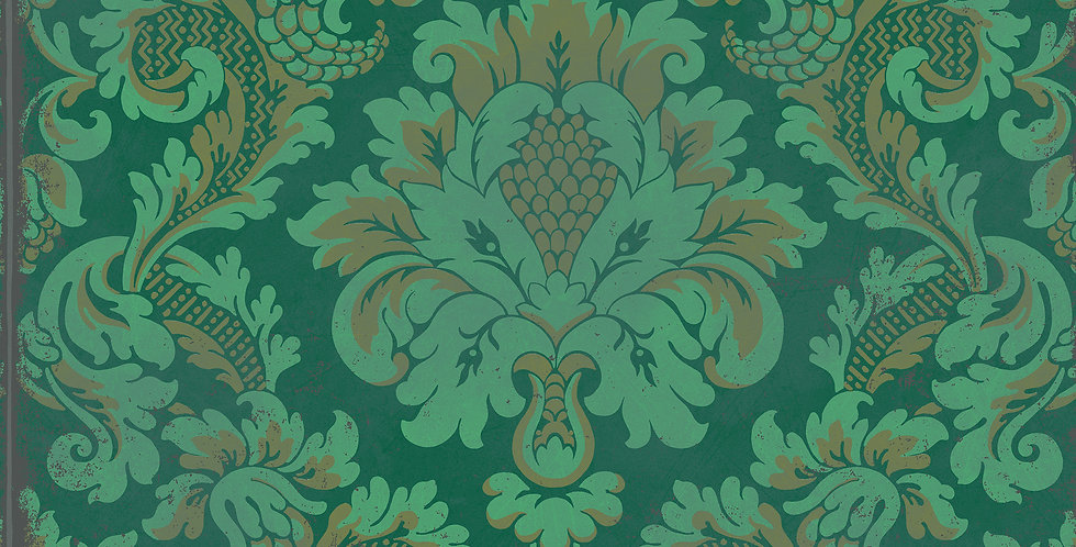 Cole & Son - Mariinsky Damask Stravinsky Green 108/4016