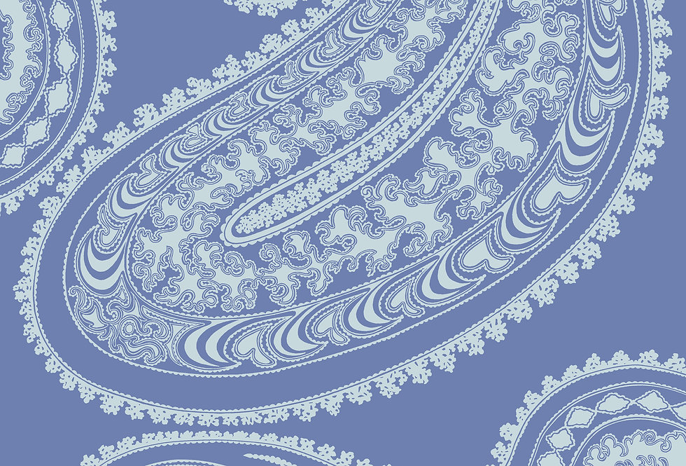 Cole & Son - Icons Rajapur Flock Hyacinth & White 112/9032