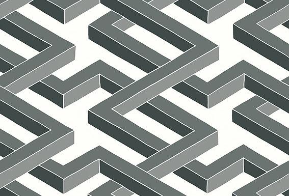 Cole & Son - Geometric II Luxor Black & White 105/1002