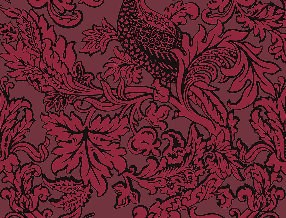 Cole & Son - Mariinsky Damask Balabina Velvet Red 108/1004