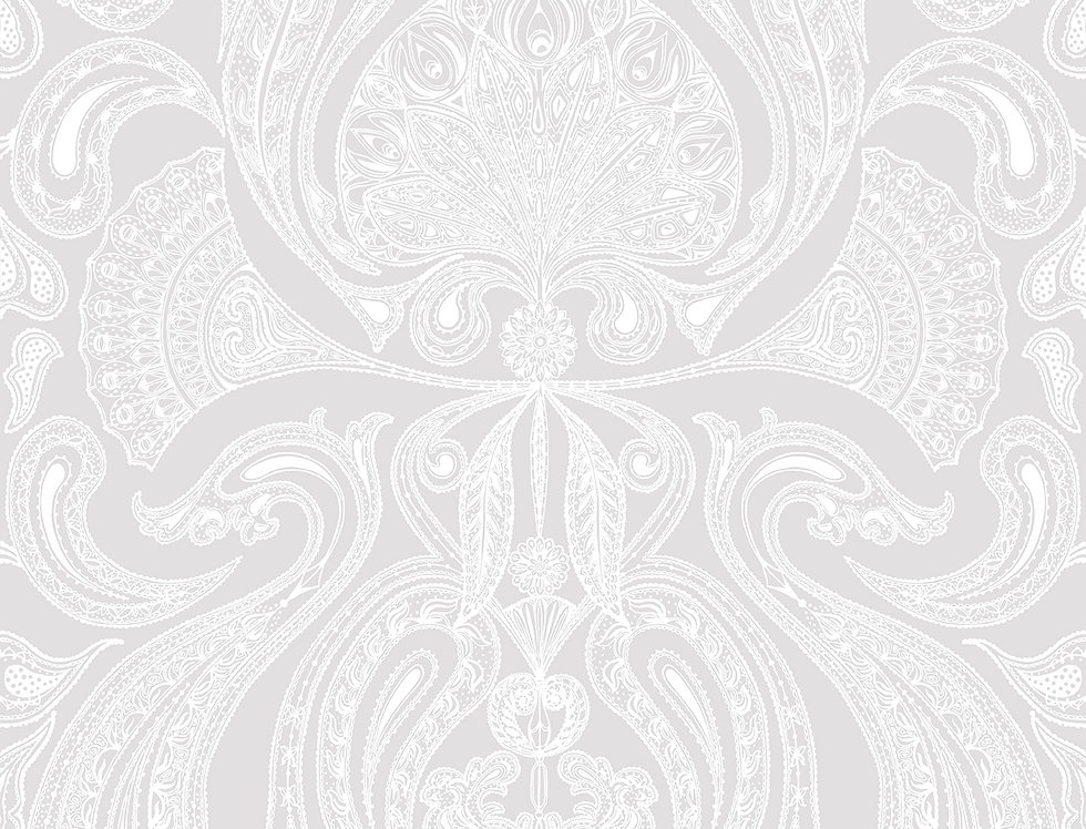 Cole & Son - Contemporary Restyled Malabar White on Lilac 95/7041